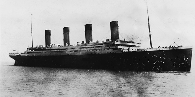 Saintly priest: A photo of the Titanic taken by the late Irish Jesuit Father Frank Browne. Photo: CNS