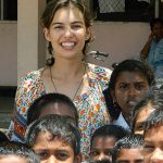 Making children smile: Abbey Feutrill on her immersion trip to Sri Lanka last year.