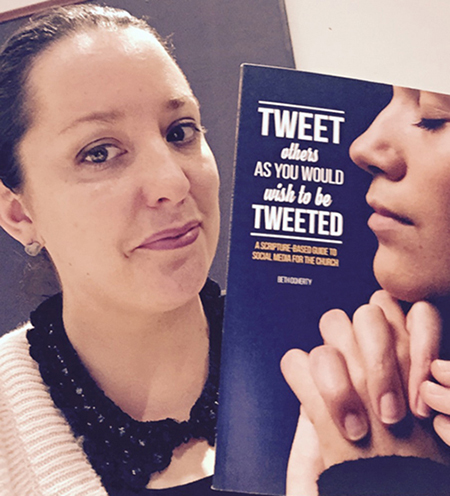 "Online savvy: Beth Doherty with her new book, ""Tweet others as you wish to be tweeted""."