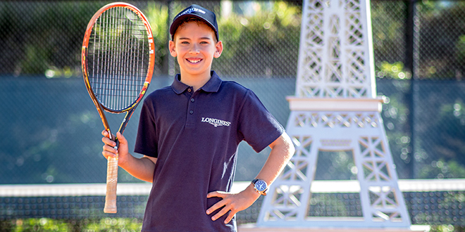 Tennis ace: Brisbane's Caseyn Hoole is excited to play the world's best in Paris this week.