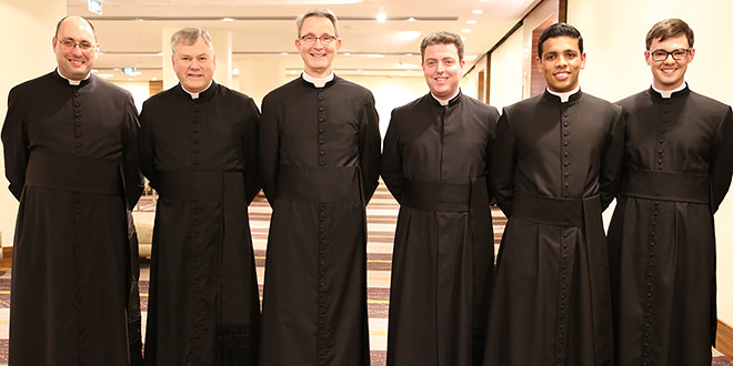 Brisbane Oratory members Br Francis King, Fr Paul Chandler, Fr Adrian Sharp, Fr Andrew Wise, Br Shawn Murphy and Fr Scot Armstrong