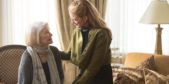 Daughter and mother: Flemming (Ellen Burstyn, left) with her mother Adaline Bowman (Blake Lively) in a scene from The Age of Adaline; and (inset) Michiel Huisman and Blake Lively form a romance.