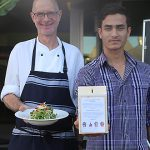 Helping Nepal: Citron Modern Asian Restaurant co-owner Mark Newman contacted Caritas Australia to help raise money for family members of his co-worker, kitchen hand Subash Kunwar, of Nepal. Photo: Emilie Ng