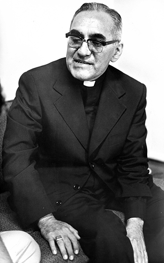 Martyr: Salvadoran Archbishop Oscar Romero is pictured in a 1979 photo. He was beatified in San Salvador on May 23. Photo: CNS/EPA