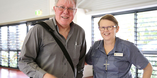 Leaders: (Above) Centacare Mission and Formation director Fr John Chalmers and Evangelisation Brisbane project team leader Ursuline Sister Kari Hatherell at the Annual Pastoral Council Development Day.