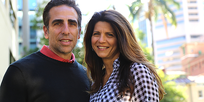 Joy from despair: Bobby and Kristina Schindler on their recent visit to Brisbane. The late Terri Schiavo's brother was a keynote speaker at the recent Cherish Life Queensland's Hope for the Future Conference. Photo: Paul Dobbyn