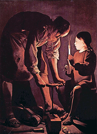"Dignity of work: ""St Joseph the Worker"", by Georges de La Tour."