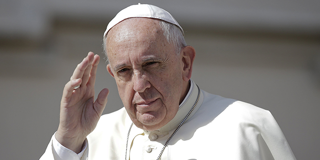Common home: Pope Francis. Photo: CNS