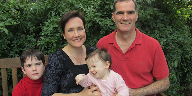 Spiritual team: Madonna and Luke McLindon, pictured with their children Edward and Clare, believe retreat getaways have improved the spiritual life in their marriage.