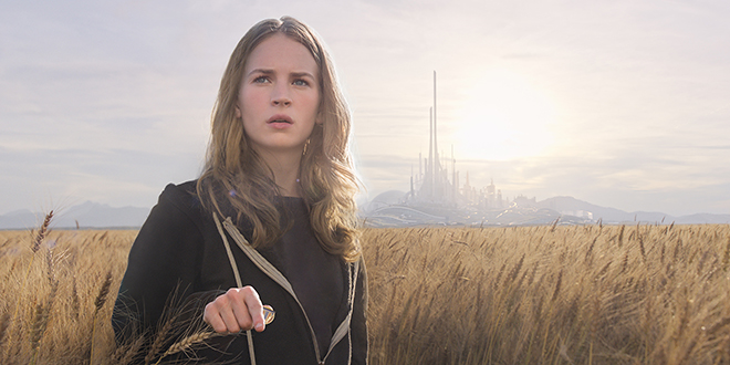 On a mission: Casey (Britt Robertson) is on a mission to save Tomorrowland in the movie of the same name. Photo: CNS