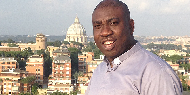 Renewal: Spiritual director of Catholic Charismatic Renewal in Brisbane Fr Francis Onwunali in Rome for the third World Retreat of Priests.