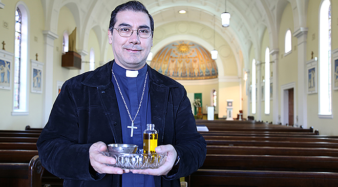 Power to heal: Scalabrinian Father Ignacio Rodriguez believes healing Masses can help people suffering from depression and loneliness.