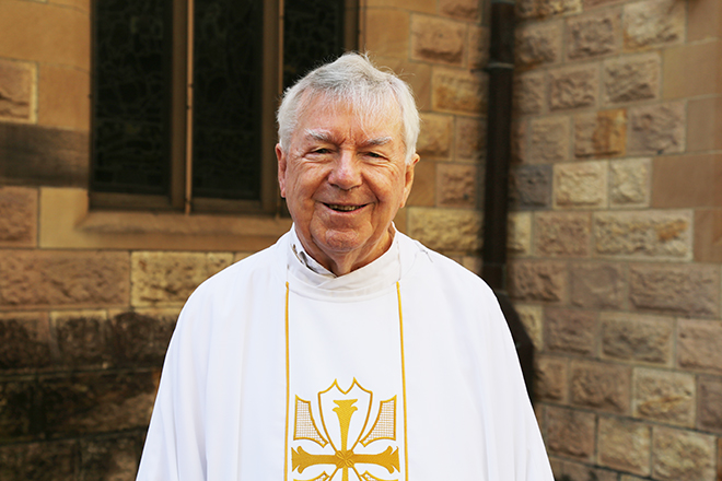 Aussie diamond: Fr Ivan Hernon has been a priest for 60 years. Photo: Emilie Ng