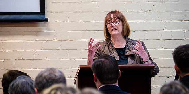 "Dr Margaret Somerville: ""Euthanasia is not medical treatment. Defining it as such presents serious dangers to patients, the trust-based physician-patient relationship, and medicine."" Photo: Gerard Williams, University of Notre Dame"