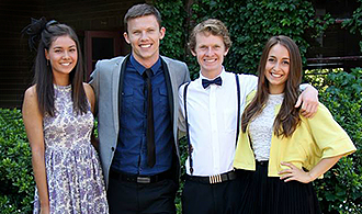 Community life: Students ready fo a social occasion at Campion College in Sydney.