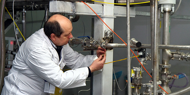 New deal: An International Atomic Energy Agency inspector checks the uranium enrichment process inside Iran's Natanz plant in January. The Holy See has welcomed Iran's historic nuclear deal and expressed hopes that more future breakthroughs would come on other issues.