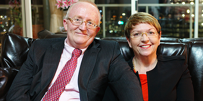 Devoted couple: Judge John Bond and his beloved wife Rowena McNally