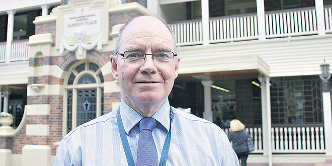 Legacy celebrated: Mater Hospital's retiring chief executive officer Dr John O'Donnell.                                                             Photo: Paul Dobbyn