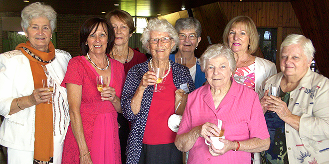 Fundraiser: Darra-Jindalee's Care and Concern group members braved the catwalk to raise money for a volunteer group in their parish.