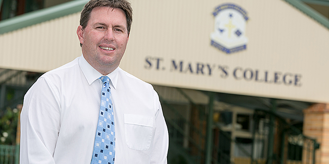 Ambassador: St Mary's College, Maryborough principal Graham Meertens.