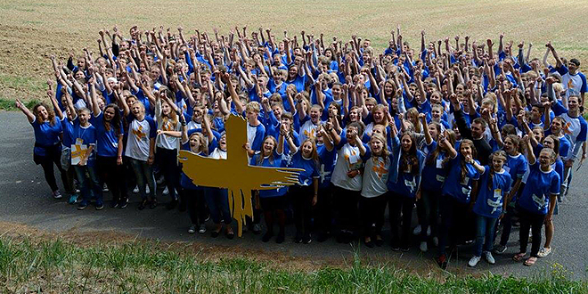 Welcome: Young people of Opole are ready to welcome international pilgrims.