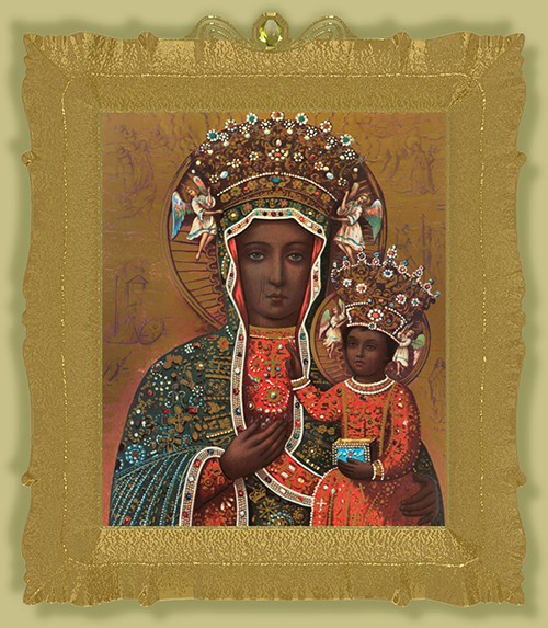Sacred space: The icon of Our Lady of Czestochowa, which is displayed in an altar in the Chapel of the Black Madonna.