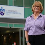 Dedicated nurse: Genia Miszkowycz has spent 40 years caring for the dying at St Vincent's Private Hospital, Kangaroo Point.