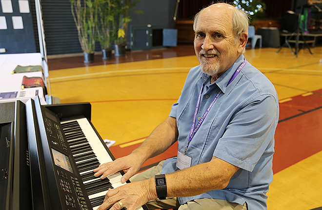 Visiting composer: Ecumenical composer Marty Haugen, whose works are used by many Catholic parishes around the world, in Brisbane for the Australian Pastoral Musicians Network national conference last week.