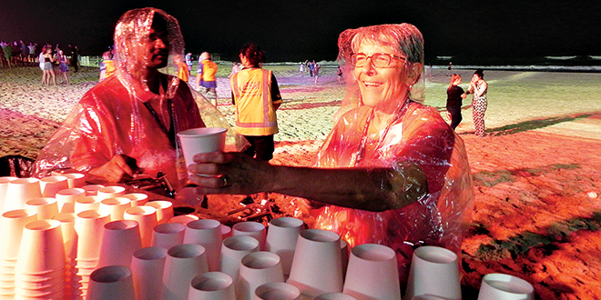 Volunteer says future is safe with our schoolies