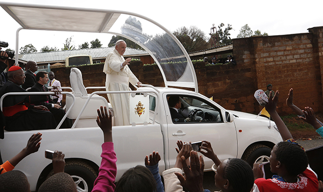 Pope in Kenya