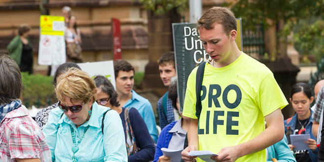 Young graduate makes radical trip for unborn children
