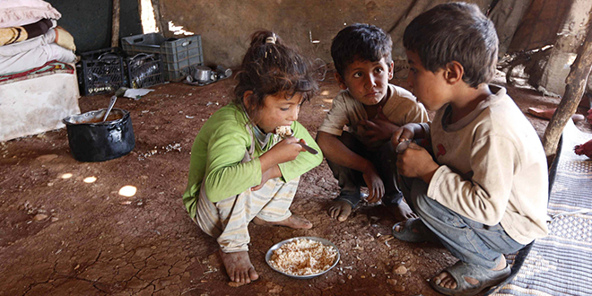 Hungry children in Syria
