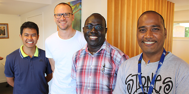 Younger Brothers: At the Marists Brothers' Oceania gathering are Br Jonnell, Br Justin, Br Rodney and Br Tainga.