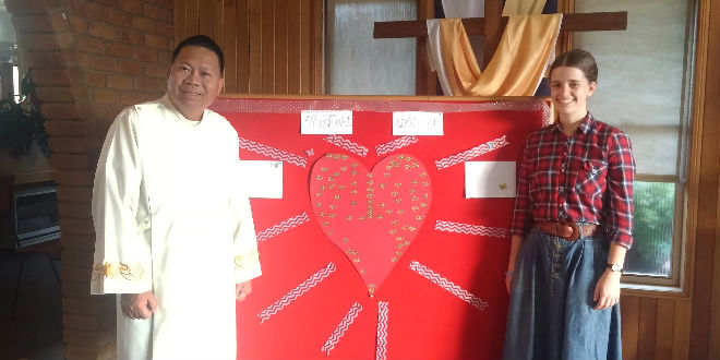 Fr Roque Maguinsay and Nancy Webb