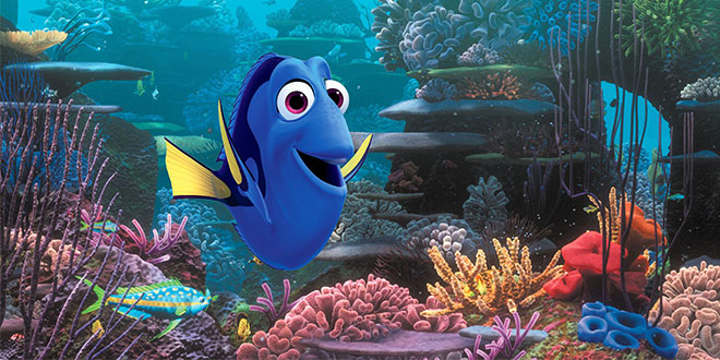 Blue star: Animated character Dory, voiced by Ellen DeGeneres, appears in the movie Finding  Dory.  Photo: CNS/Disney
