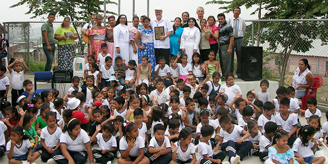 Brisbane missionary priest who built a church and school in Ecuador returns to see finished product