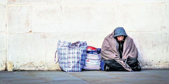 """Homeless: """"Many homeless people remain invisible, couch surfing or living in temporary shelters, and not getting picked up by the census data."""""""