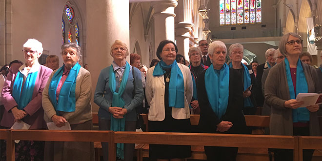 Great feast: Sisters of St Joseph at the Mass in St Stephen's Cathedral celebrating the feast of their co-founder St Mary of the Cross MacKillop.