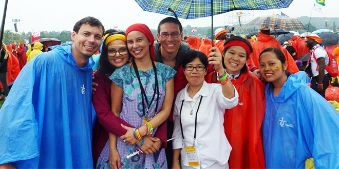 Young adults at World Youth Day