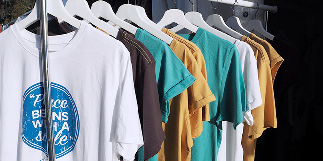Ethical option: A selection of t-shirts from Melbourne business, Servi Store.