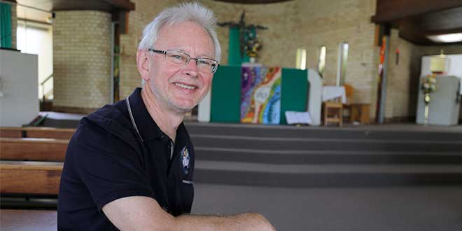 Merciful outreach: Jesuit Father Richard Shortall has spent nine months in full-time work as a Missionary of Mercy for the Maitland-Newcastle diocese. Photo: Emilie Ng