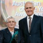 Sr Anne Gardiner and Prime Minister Malcolm Turnbull