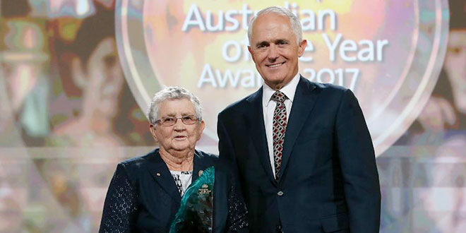 Religious sister named Senior Australian of the Year full of joy