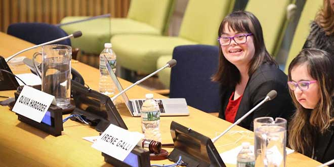 Olivia Hargroder at the United Nations