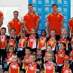 Gold Coast Suns with Year 7 Ormeau students