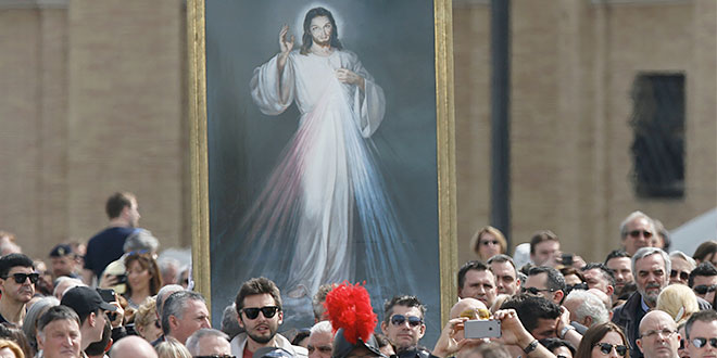Divine Mercy Sunday procession in Rome
