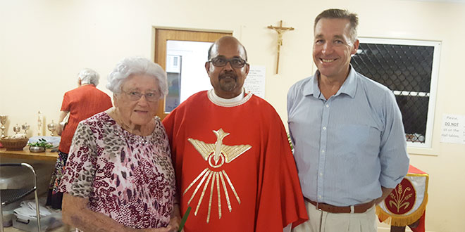 Fr Koyickal and parishioners