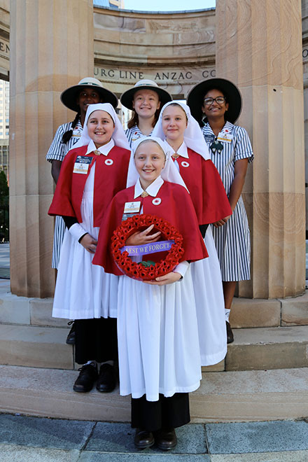 Catholic school students honour wartime nurses
