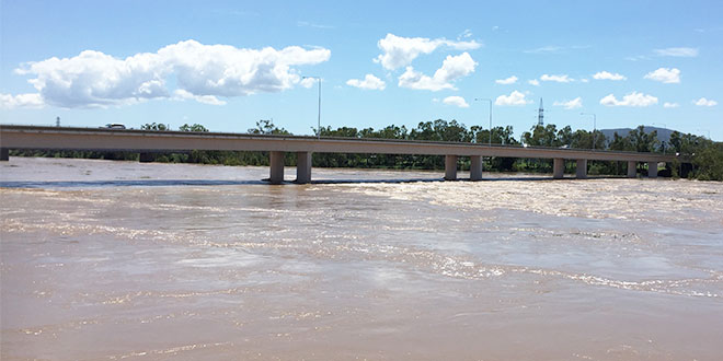 Rockhampton roads flooded