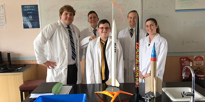 Students launch rocket